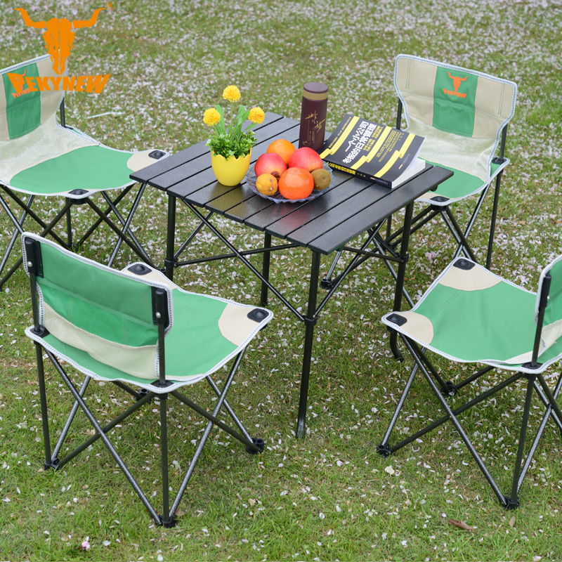 Arctic cattle outdoor chairs and folding Foldable portable field set folding table stall driving self folding table