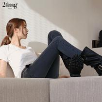 24mg黑灰色韩版高腰修身显瘦九分裤