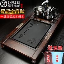 Automatic tea tray Solid wood integrated induction hearth stone tea Nida tea sea home office Kung Fu tea set Tea tray simple