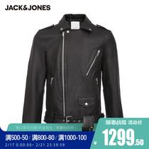JackJones Jack Jones male spring and Korean version of the trend of handsome fashion motorcycle leather jacket Jacket 220110517
