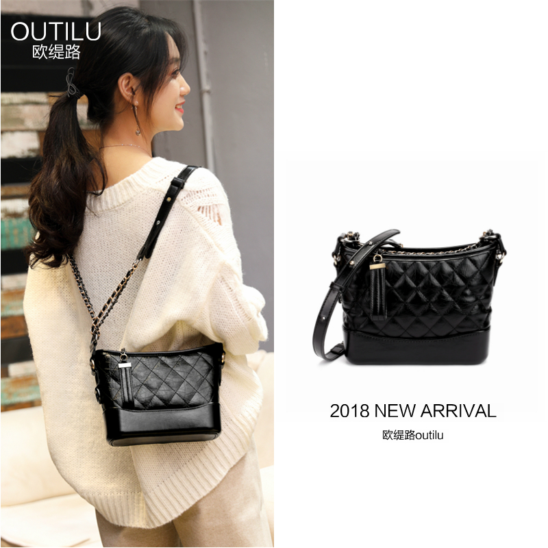 Star with the same paragraph small fragrance rhombic chain wandering bag female 2018 new tide ins super fire single shoulder Messenger bag