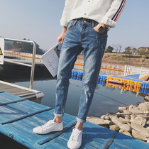 Korean version of the current thin young men in the fall nine straight pants