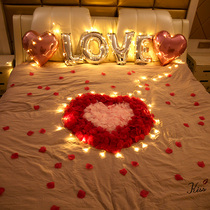 Simulation rose Petals Valentines Day romantic proposal confession birthday decorative balloon moved girlfriend surprise layout