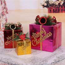 Christmas gift box packaging box Christmas supplies Christmas gift box large window decorations heavy on