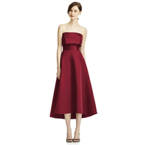 Wine red vintage Satin Wedding toast clothing
