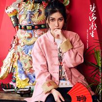 Biehai прилив новых существ радуются оригинальный китайский стиль ретро диск пряжки Тан вышивки пальто для мужчин и женщин