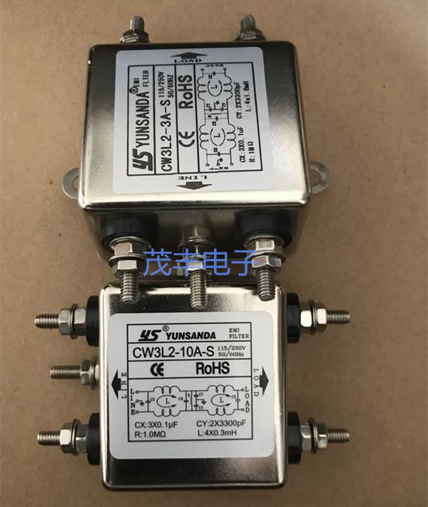 Taiwan YUNSANDA power filter CW3L2-10A/6A/3A-S bipolar bolted single-phase 220
