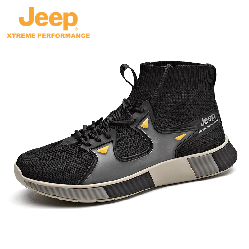 Jeep Jeeps new sneakers fly breathable hiking shoes outdoor shock-absorbing running shoes anti-slip shoes to help mens shoes