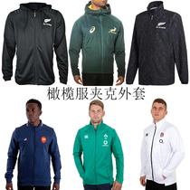 All Black Team Hooded jacket South Africa France Ireland England guardian rugby clothes rugby jersey