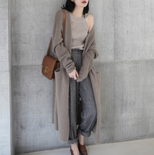 Fall 2019 New Korean Woman Sweater with Thicker Knitted cardigan and Lazy Sweater Coat