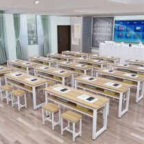 Training table factory direct bar table single double desk chair primary and middle school students tutoring classes desk