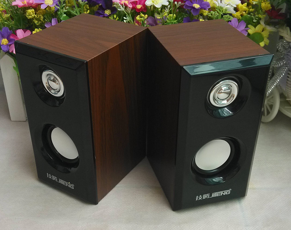 Authentic JT042 Wood Mini-speaker New Serious Bass speaker USB High-end Wood Audio speaker