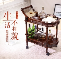 3rd floor delivery car American family wine truck hotel club real wooden dining cart mobile trolley with wheel white dining room