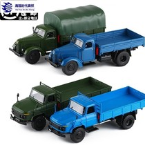 Simulation alloy Dongfeng Jiefang brand old army card troop carrier vintage old truck truck car model toy collection