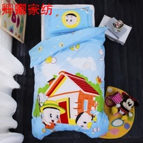 Nursery quilt three of the six-piece set of a holomorphic cotton-containing core of the big head son quilt spring and autumn children cartoon bedding NAP