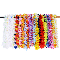 The 36pcs multicolor hawaiian wreath combo set was presented with a new neck ring Hawaii necklace Leis