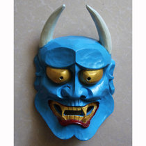 Halloween cosplay Props Pure hand carving prajna mask Bull Head bar pendant 20*30cm