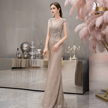 Banquet Evening Dresses Summer 2019 New Fishtail Long High-end Atmospheric Fashion Noble Temperament Dresses Women's Dresses