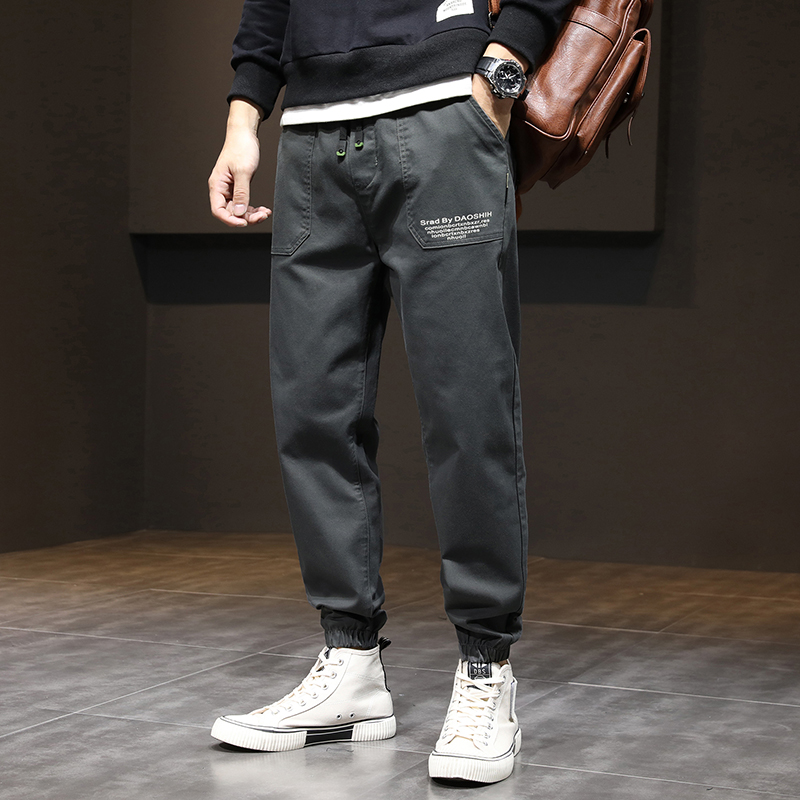 Trendy brand Shawn Yue overalls loose men's autumn new trend handsome drawstring straight leg harem casual pants