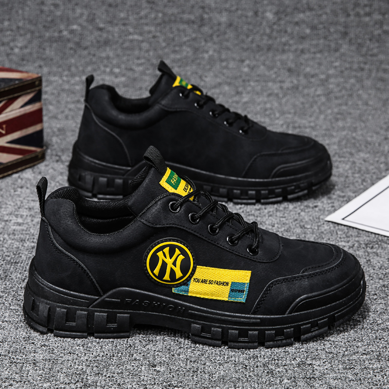 Chef shoes non-slip, waterproof and oil-proof black work shoes men's kitchen special wear-resistant letter tooling men's shoes