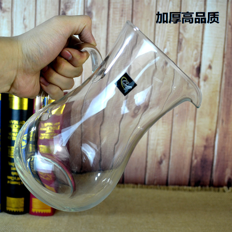 Thickened crystal glass bottle Red wine fast decanter Distillery wine set Wine decanter large