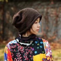 Тысяча любви леса оригинальный ретро дизайн чувство мешковатый мешок шляпа вязаная шапка осень зима чистая овечья нить