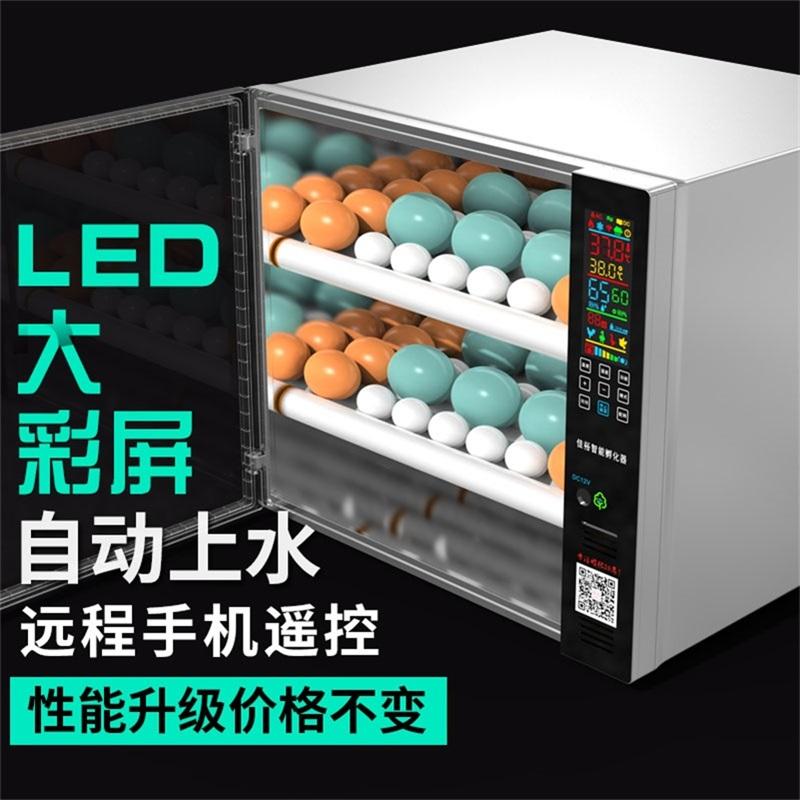 Fully automatic incubator small household smart incubator chicken duck goose mini incubator device egg incubator