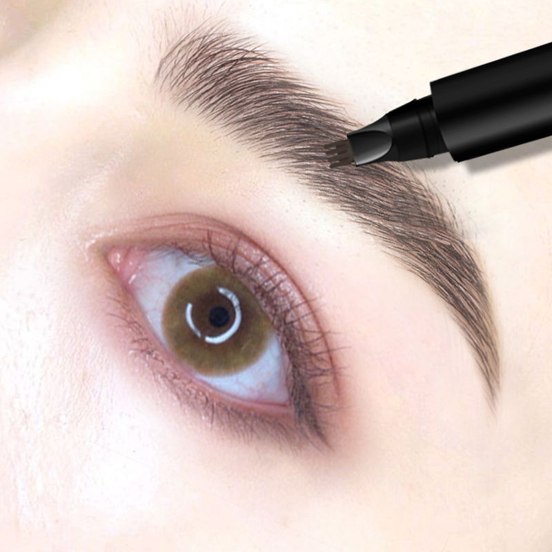 Peachs death four fork eyebrow pen woman natural vivid Li Jiaxuan recommended gray-brown does not lose color long-lasting anti-sweat waterproof