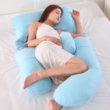 Pregnant women pillow waist side sleeping pillow sleeping side sleeping artifact summer multi-functional U-type pregnancy supplies abdominal pillow