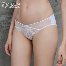 Randalls flagship store sexy lace stitched low-waisted triangle pants ladies panties.