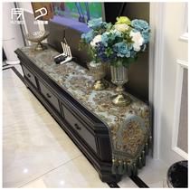 Table Drapeau américain table basse tissu Nordique lit serviette de luxe de haute qualité Lit drapeau moderne simple thé table TV cabinet couverture tissu