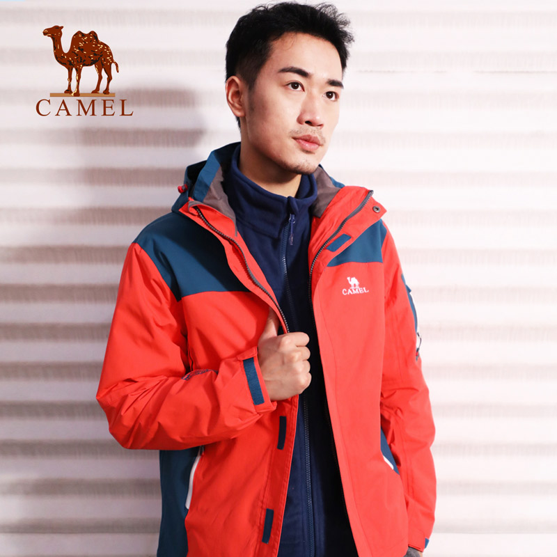 Clearance Special Camel Outdoor Stormwear Men's Warming and Furring Jacket Trinity Removable Stormwear
