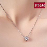 PT950 Platinum Necklace Birthday Gift Counter Платиновое ожерелье Дикие ювелирные изделия Diamond Pendant