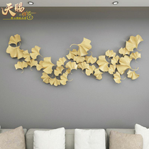 New Chinese ginkgo biloba iron wall hanging model room living room Hotel clubhouse creative Metal wall home decoration products