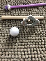 The whole shop full of 30 solid wood pure hand-crafted high-quality blowball toys exercise a variety of coordination capabilities.