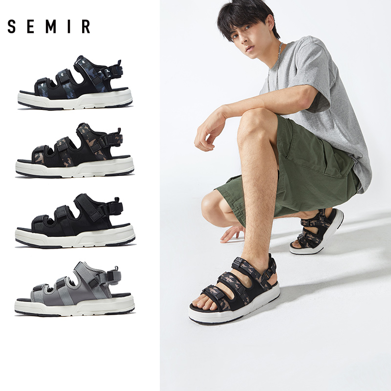 Semir men's shoes summer new leisure beach shoes sports sandals students open toe sandals men's sandals