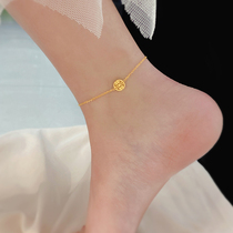 Hong Kong (designer) RVY 2021 new gold Fu brand anklet female simple personality Sen department simple trend