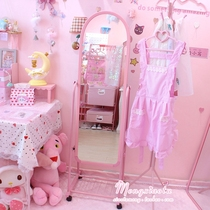 Pink Teen heart body mirror floor mirror soft sister room mirror fitting mirror student dormitory test clothes mirror