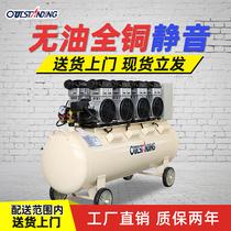 Otrus air compressor large oil-free silent compressor high-pressure gas pump 220v industrial-grade decoration auto repair spray paint