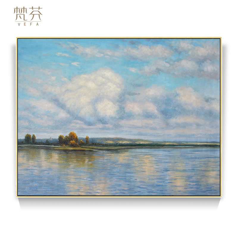Russian painter Levitan Sky Realm Pure Hand Painting Academic School of High-end Sketch Landscape Decoration Painting