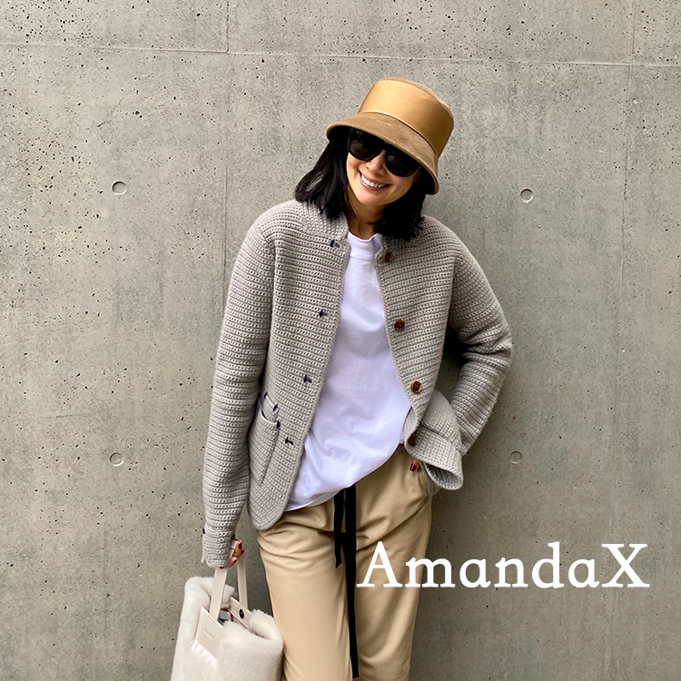AmandaX Custom du Home Vintage-YSL Pure Cashmere Grey Slim Winter Coat