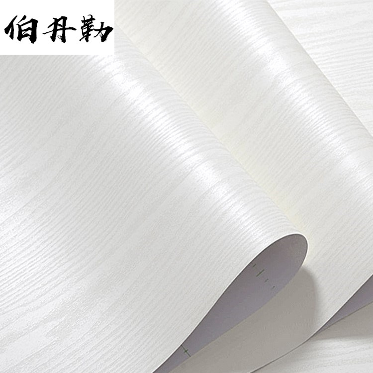 Thickened white oak stickers, self-adhesive PVC wallpapers, wallpapers, wardrobes, doors and windows, furniture, wood-grain renovation stickers