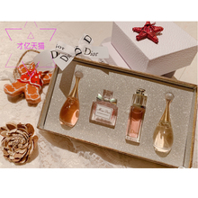 Miss Dior Dior flower, Miss sweetheart, perfume, lasting lady, light fragrance, Q version, four sets of gift boxes.