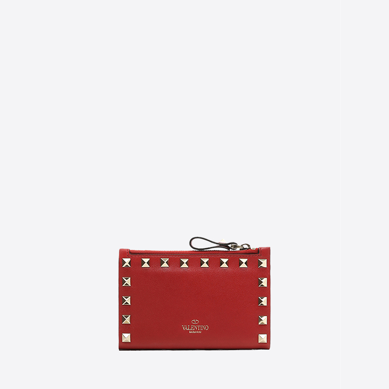 VALENTINO GARAVANI/Ms. Warren Tiannu 19 ROCKSTUD Zero Purse Red