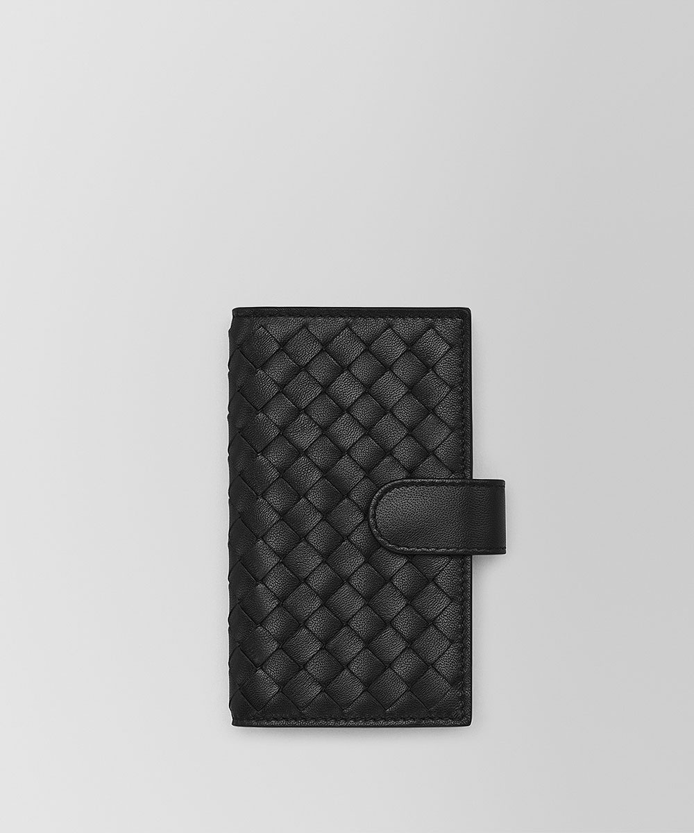 BOTTEGA VENETA Black Knitted Lambskin Key Pack