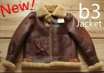 Global production Air Combat master American World War II B3 flying jacket wool fur one Barton retro thick a2n1
