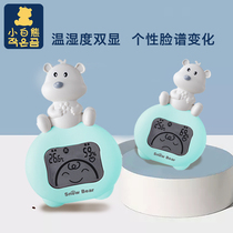 Little White Bear flagship store Cubs electronic household temperature and humidity meter baby indoor temperature meter 09211