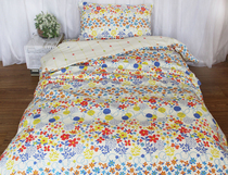 Foreign flowers of pure cotton anti-bacteria and mite bedding cotton three single dormitory bed sets