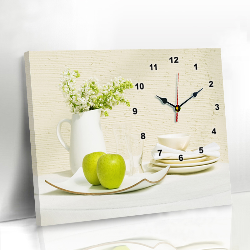 Modern Simple Living Room Dining Room Watch Decoration Painting No-punching Electric Meter Box Hanging Painting Creative Watch Bedroom Fresco Hanging Clock