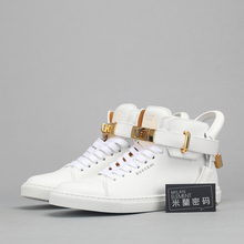 Spot means to produce Buscemi 100 mm Flat WMNS W1007SP14 - WHT white men's and women's casual shoes